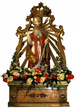 Statua di S. Egidio Abate patrono di Caprarola