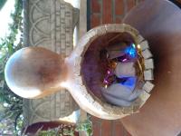 Presepe nella zucca lagenaria