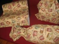 Cod. tris01 trittico porta sacchetti/borse spesa/rotoli carta casa