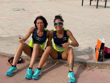 Daniela e Kalliopi dopo la gara