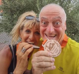 Marcello dopo la sua 296 maratona