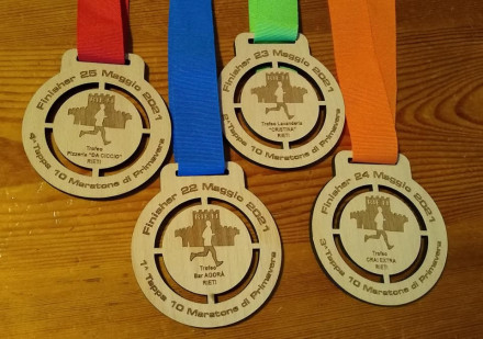 Le prime 4 medaglie di Rieti
