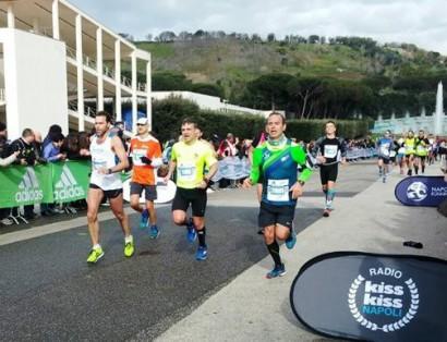 Napoli City Half Marathon l'arrivo di Massimiliano