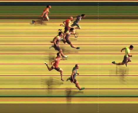 Pothofinish della vittoria di Marco nei 200 m