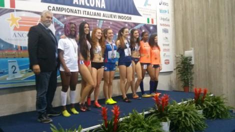 Premiazione Valeria 200 metri