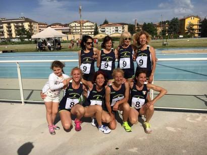 Le staffette 4x800 metri campionesse d'Italia