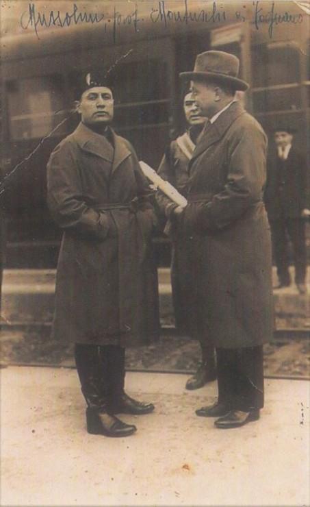 Il Duce e il Prof Montuschi a Fognano