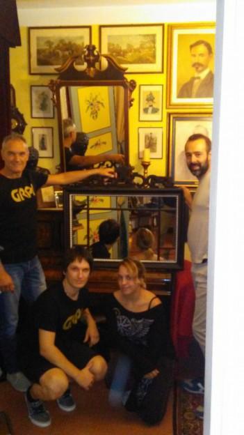 Il Team del G.R.P.I. riceve in dono il nostro specchio