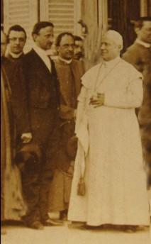 Con il Papa Pio IX