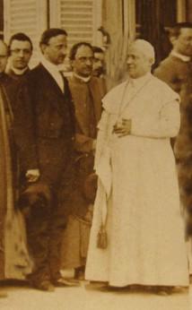 Re Francesco con Papa Pio IX