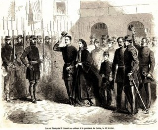 February 14, 1861 - The sovereigns Neapolitans leave forever Gaeta and the United