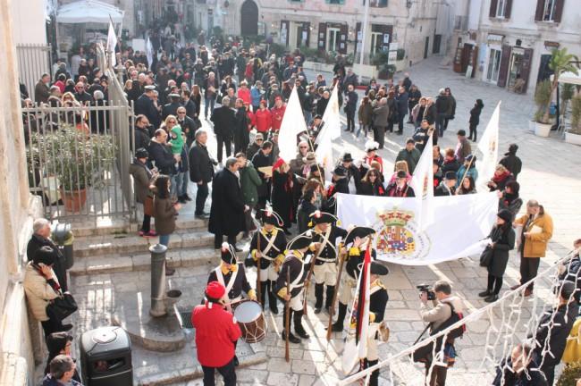 la S. Messa delle Bandiere 2016, celebrata a Polignano a Mare