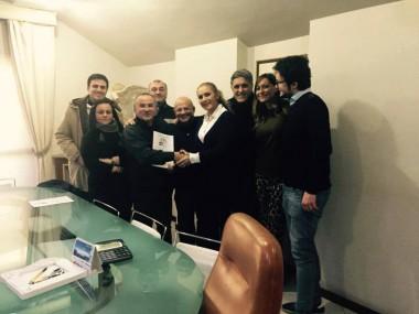 Caserta 13 febbraio 2015 - completamento della pratica per la Fondazione dal notaio Silvana Faraone di Caserta