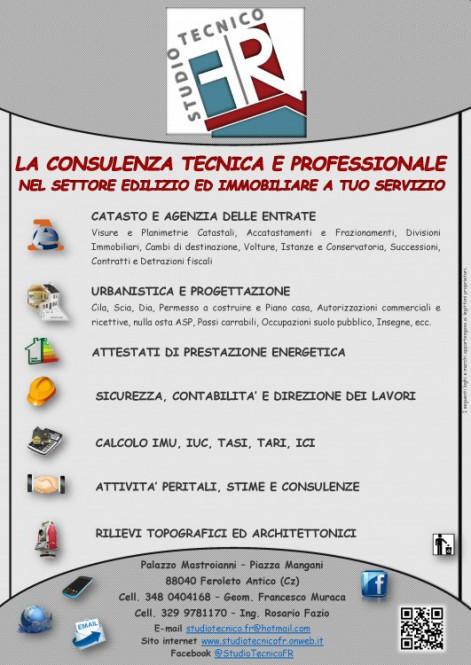 Studio Tecnico - FR LA CONSULENZA TECNICA E PROFESSIONALE NEL SETTORE EDILIZIO ED IMMOBILIARE A TUO SERVIZIO!!