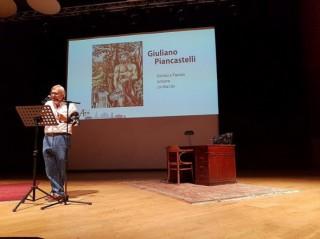 Sgarbi illustra il possente Bacco di G.Piancastelli a Milano
