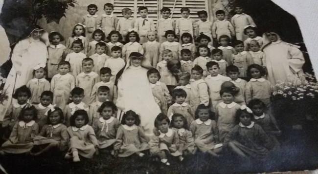 All'asilo con Madre Gagliardi , suor Anna Maria e suor Maria Domenica