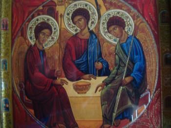 Raffigurazione della Trinità nella chiesa omonima