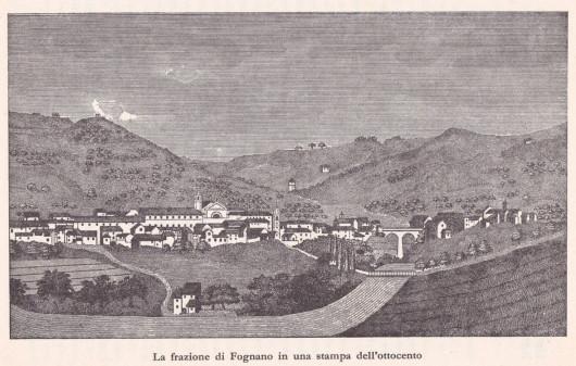 La frazione di Fognano in una stampa dell' ottocento- Dalla collezione di Filippo Briccoli