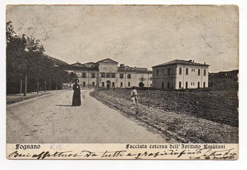 Inizio 1900. Come si presentava L'AREA ANTISTANTE IL CONVENTO NEL  1912-Cartolina di Filippo  Briccoli.