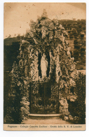 1907 GROTTA DELLA BEATA VERGINE DI LOURDES ALLA MONTAGNOLA--Cartolina di Filippo Briccoli