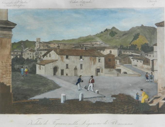 VEDUTA DI FOGNANO NELLA LEGAZIONE DI RAVENNA-dalla collezione di Filippo Briccoli